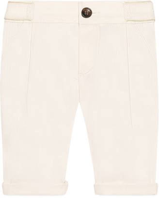 Baby cotton pant with Gucci label $295 thestylecure.com