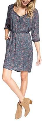 Esprit Women's Fluent F Viscos Tunic Floral Long Sleeve Dress,(Manufacturer Size:38)