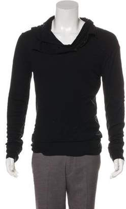 Ann Demeulemeester Hooded Layered Sweater black Hooded Layered Sweater