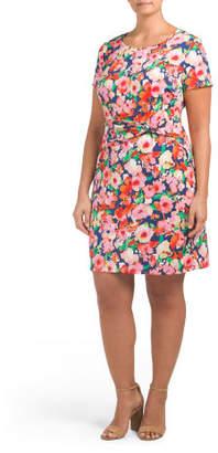 Plus Juniors Floral Dress