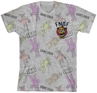Novelty Licensed Boys Crew Neck Short Sleeve Five Nights at Freddys T-Shirt Preschool / Big Kid