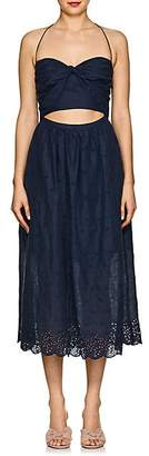 Zimmermann WOMEN'S IRIS LINEN EYELET PICNIC DRESS