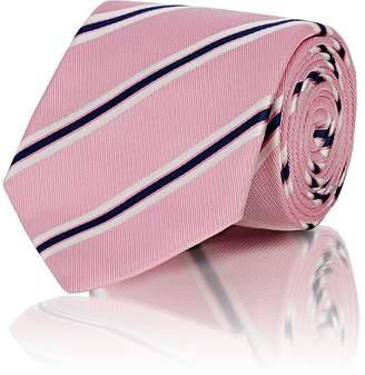 Bigi Men's Diagonal-Stripe Corded Silk Necktie