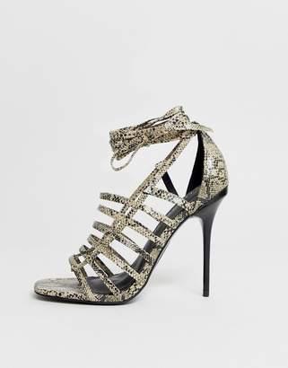 9c1c955344 Asos Design DESIGN Half Way strappy stiletto heeled sandals