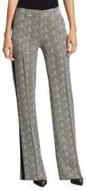 Akris Punto Mikka Wool Letter-Print Pants