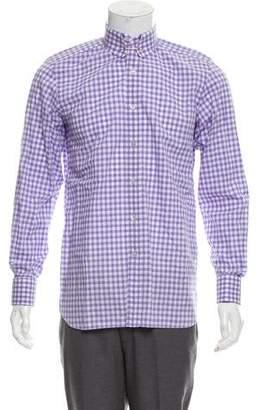 Tom Ford French Cuff Gingham Shirt