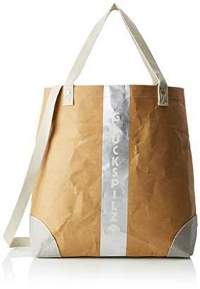 Adelheid Glückspilz Streifen Einkaufstasche Veganes Leder, Women's Handbag, Braun (Papierbraun), 10 x 45 40 cm (wxhxd)