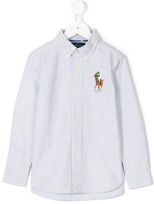 Ralph Lauren logo embroidered striped shirt