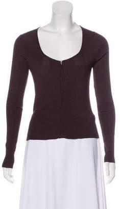 Chanel Zip Long Sleeve Top
