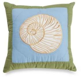 Coastal Treasure Shell Toss Pillow