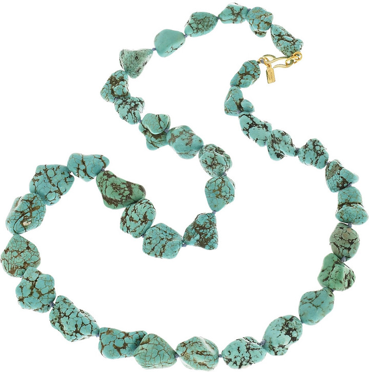 Kenneth Jay Lane 22-karat gold-plated resin bead necklace