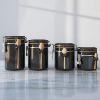 Gracie Oaks 4 Piece Ceramic Kitchen Canister Set