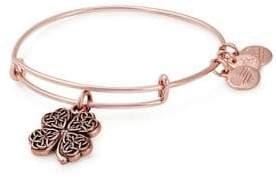 Alex and Ani Holiday 4-Leaf Clover Charm Bangle Bracelet