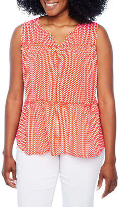 A.N.A Sleeveless Peplum Top