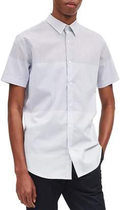 Calvin Klein Men's Short-Sleeve Gradation Square-Print Button-Down Shirt