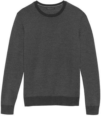 Banana Republic Extra-Fine Italian Merino Wool Birdseye Crew-Neck Sweater