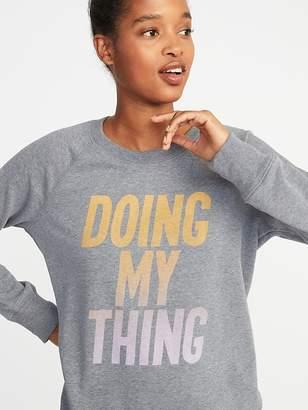 Old Navy French Terry Drawstring-Hem Sweatshirt for Women