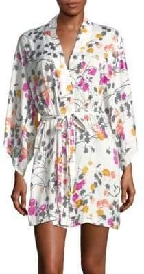 Natori Floral Printed Kimono Robe