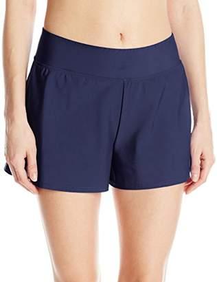 Penbrooke Women's Tummy Control Swim Short Bikini Bottom