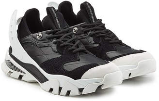 Calvin Klein Carlos 10 Leather and Suede Sneakers