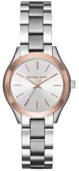 Michael Kors Mini Slim Runway Stainless Steel Three-Hand Watch
