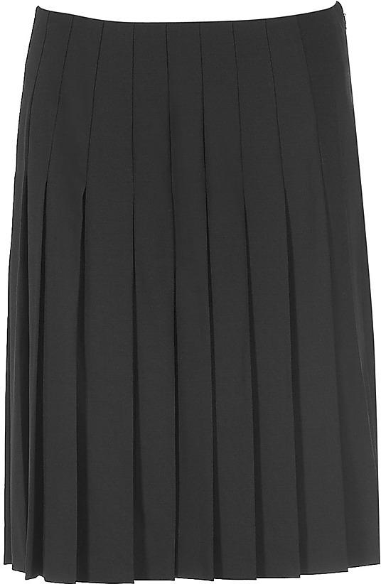 DKNY Black Pleated Skirt