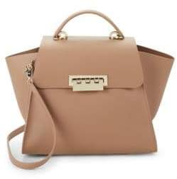 Zac Posen Eartha Flap Leather Top Handle Bag