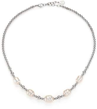 Majorica Women's 8MM-12MM White Baroque Pearl Beaded Necklace