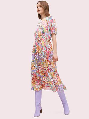 Kate Spade Floral Dots Silk Dress, Size 00