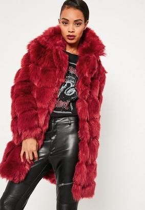 Red Bubble Faux Fur Coat $112 thestylecure.com