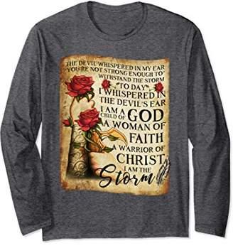 I Am A Child Of God A Woman Of Faith Long Sleeve T-shirt