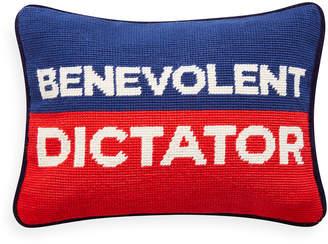 Jonathan Adler Benevolent Dictator Needlepoint Personality Pillow