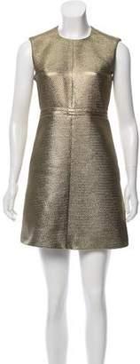 Diane von Furstenberg Metallic Mini Dress