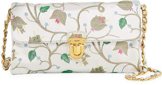 Prada Jacquard Nylon Chain-Strap Crossbody Bag