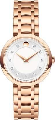 Movado 1881 Quartz Diamond Bracelet Watch, 28mm