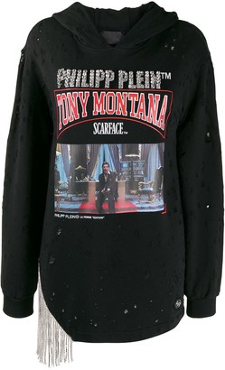 Philipp Plein Scarface embellished hoodie