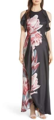 Ted Baker Ulrika Tranquility Ruffle Maxi Dress