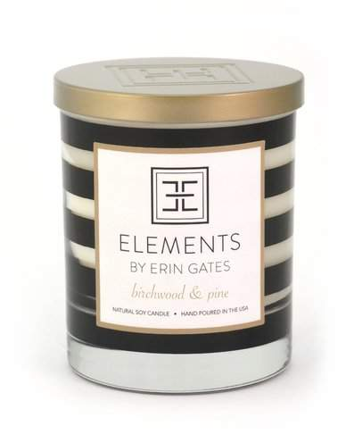 Elements by Erin Gates Birchwood and Pine Scented Jar Candle