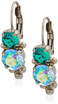 Sorrelli Ornate Crystal Rounds French Wire Drop Earrings