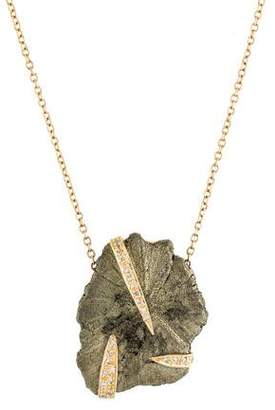 Jacquie Aiche 14K Pyrite & Diamond Claw Pendant Necklace