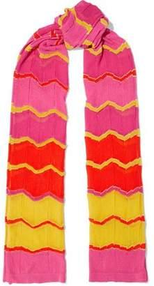 M Missoni Metallic Crochet-Knit Cotton-Blend Scarf