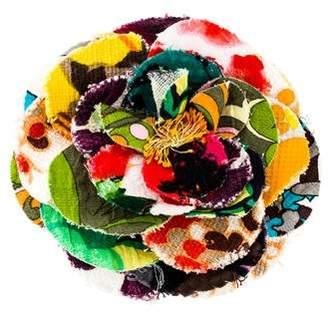 Dolce & Gabbana Printed Oversized Flower Brooch