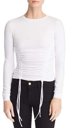 KENDALL + KYLIE Ruched Jersey Top
