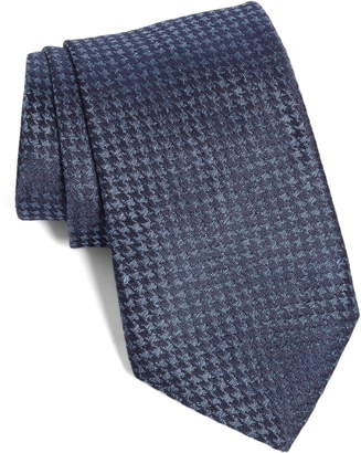 John Varvatos Houndstooth Silk Tie