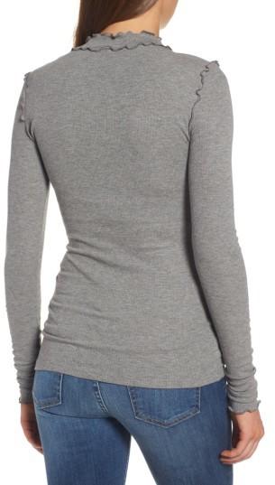 Women's Hinge Long Sleeve Ruffle Tee 3
