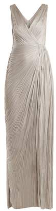 Maria Lucia Hohan Malou Pleated Silk Gown - Womens - Silver