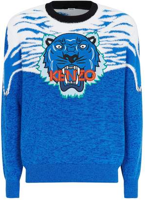 Kenzo Patterned Icon Tiger Sweater