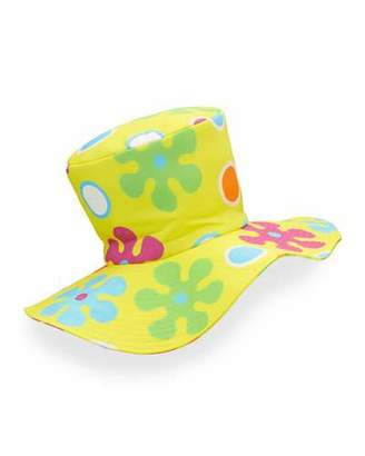 Moschino Floral Floppy Top Hat, Yellow