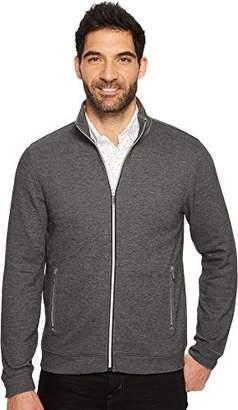 Perry Ellis Men's Solid Heathered Full Zip Knit Jacket