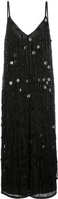 Aidan Mattox bead embroidery jumpsuit